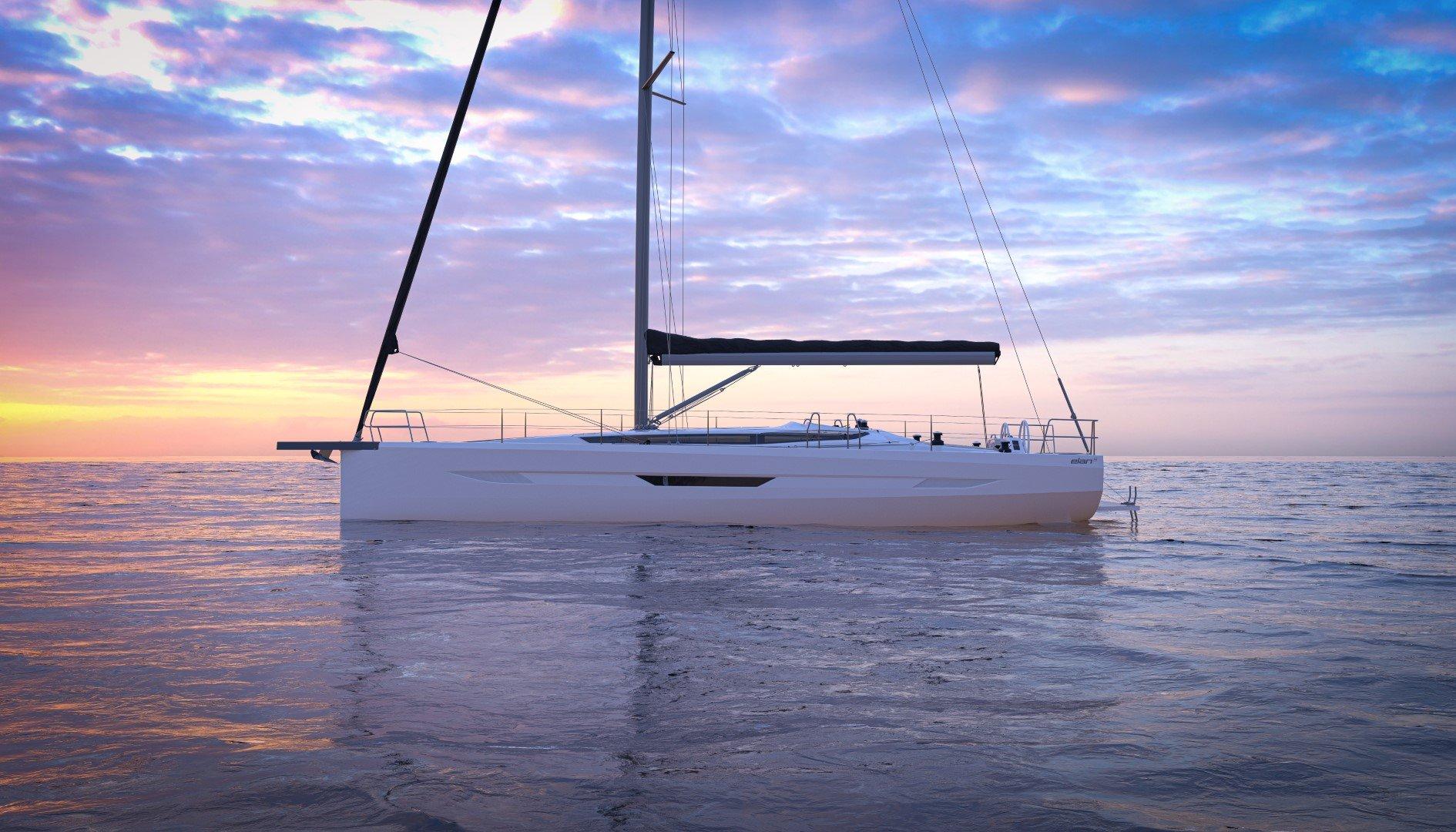 Elan E6 profile shot render performance cruiser