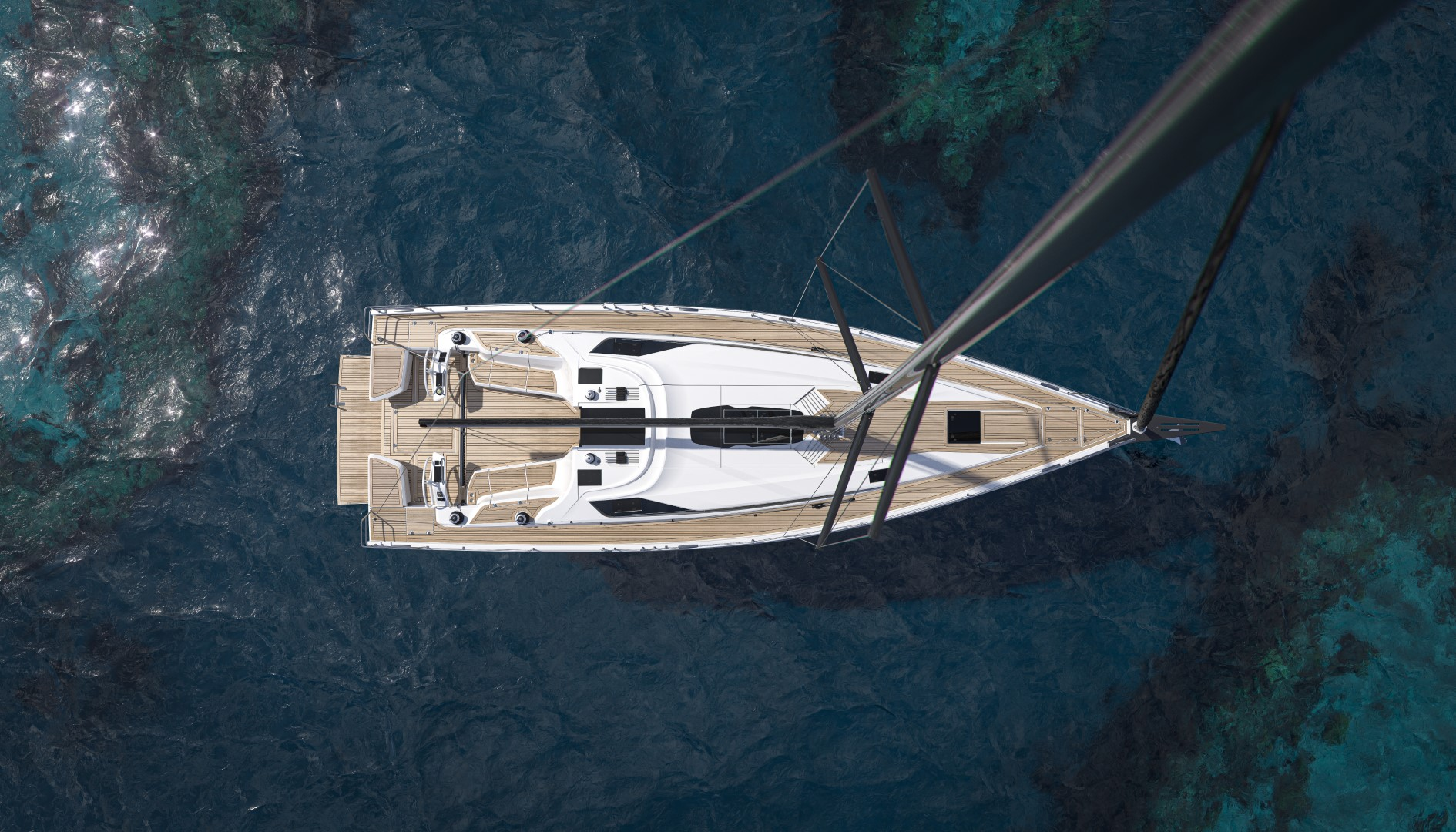 Elan E6 perfromance cruiser top-down view