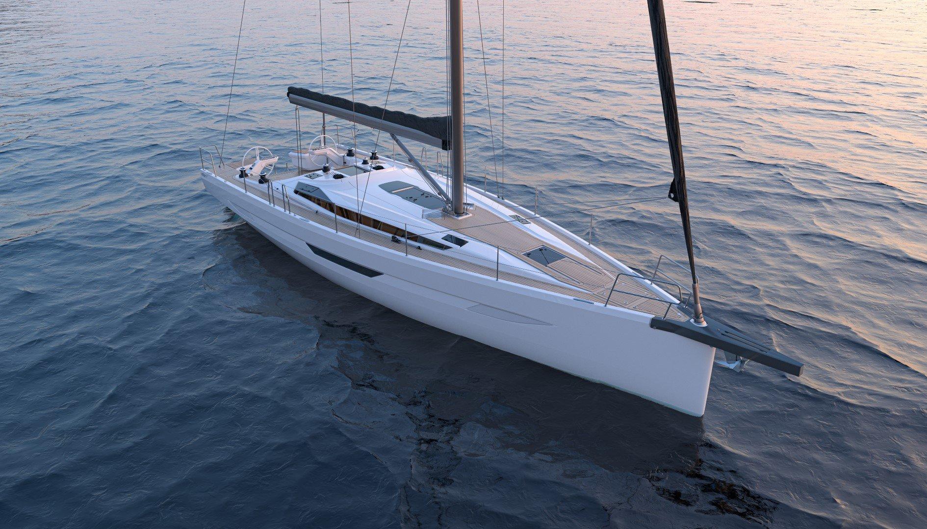 Elan E6 render performance cruiser top bow shot