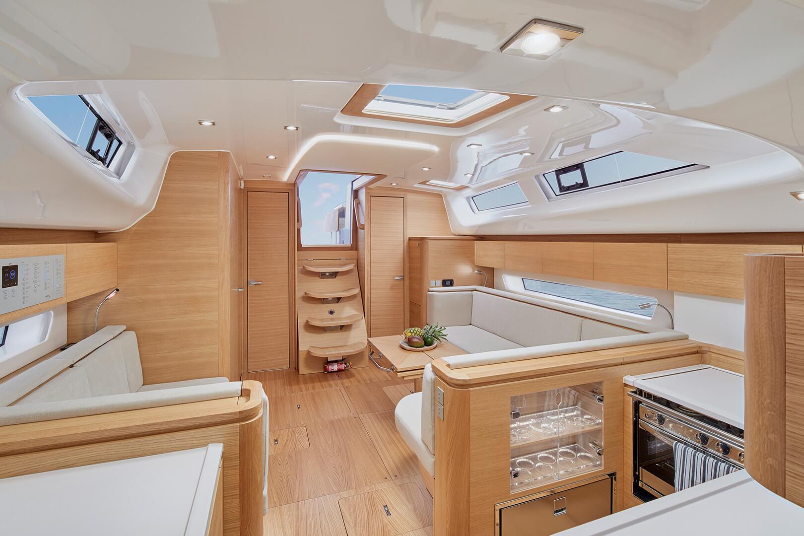 Elan GT6 sailing yacht interior
